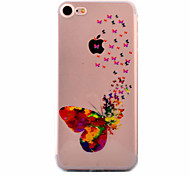 For iPhone 7 Case / iPhone 6 Case / iPhone 5 Case Ultra-thin / Pattern Case Back Cover Case Butterfly Soft TPU AppleiPhone 7 Plus /