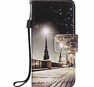 cassa del telefono pu pittura paesaggio della città per Apple iTouch 5 6