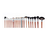 23 Makeup Brushes Set Mink Hair / Goat Hair / Nylon Portable Wood Face  G.R.C / Send Package