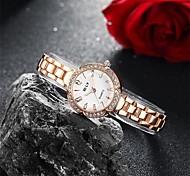 Women's Fashion Watch Bracelet Watch Quartz Water Resistant / Water Proof Alloy Band Charm Casual Elegant Gold