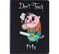 Card Holder  with Stand  Flip Pig Pattern Case Full Body Case Hard PU Leather for iPad 4 3 2