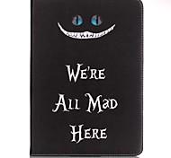 Для Бумажник для карт / Кошелек / со стендом / С узором Кейс для Чехол Кейс для Слова / выражения Твердый Искусственная кожа SamsungTab E