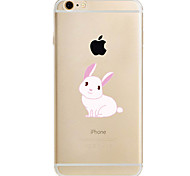 For Apple iPhone 7 7Plus 6S 6Plus Case Cover White Rabbit Pattern TPU Material Soft Case Phone Case