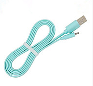 USB 2.0 Flat / Portable Cable For Samsung / Huawei / Sony / Nokia / HTC / Motorola / LG / Lenovo / Xiaomi 100 cm Silicone