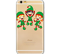 For iPhone 7 6S 6 Case Cover Christmas Series Playing Child Pattern Transparent Painting TPU Material