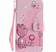 For Google Pixel XL Pixel Case Cover Cats and Bees Painted Lanyard PU Phone Case