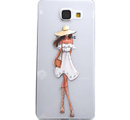 For Samsung Galaxy A5 A3 (2016) Case Cover Fashion Girl Pattern High Permeability Painting TPU Material Phone Case