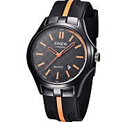 Men's Sport Watch Fashion Watch Quartz PU Band Black Brand