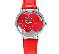 Women's Fashion Wrist Quartz Personality Simple Originality Watch Cool Casual Watch Unqiue Watch Heart Shape Watches