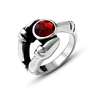 Band Rings Ring Titanium Steel Simulated Diamond Fashion Silver Jewelry Wedding Party Casual 1pc