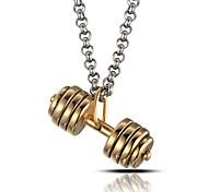 мужской стиль панк кулон ожерелье шарма нержавеющей стали 316l ретро гантель ювелирных изделий форма