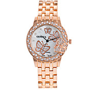 Fashion Women Gold Butterfly Geneva Watch Casual Luxury Stainless Steel Quartz Watches Relogios Femininos Gift Clock