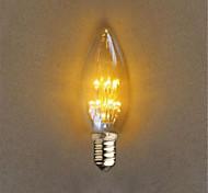 1W E14 Декоративное освещение C35 20 Dip LED 40 lm Желтый Декоративная AC 220-240 V 1 шт.