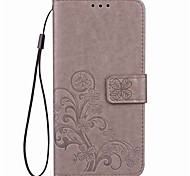 For Nokia Lumia 530  930 N640 Card Holder / Wallet / with Stand / Flip / Magnetic / Embossed / Pattern Case Full Body Case Solid Color Hard PU Leather