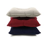 Outdoor convenient pillow Square flocking air pillow Inflatable travel pillow pillow nap pillow Driving pillow Color random
