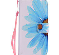 For Google Pixel XL Pixel PU Leather Material Sunflower Pattern Painting Phone Case