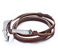 Men's Bracelets Wrap Bracelets Jewelry Axe Adjustable Sports/Outdoor/Casual/Birthday/Daily Fashion Leather/Stainless Steel Brown 1pc Gift