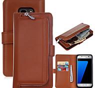 для Samsung Galaxy s8 плюс новый гладкий кожаный бумажник молнии универсальный комбо для Samsung Galaxy s5 s6 s6edge s7 s7edge