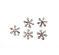 5pcs Christmas Snowflakes Nail Art Decoration Rhinestone Nail Art Design