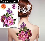 5pcs Tatuajes Adhesivos Series de Flor Non Toxic / WaterproofMujer flash de tatuaje Los tatuajes temporales
