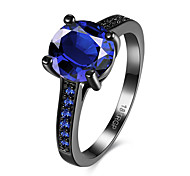 Women's Rings Statement Rings Jewelry Hallowas/Party/Daily/Wedding Fashion Glass/Copper/ Black Gun Plated Blue 1pc Gift