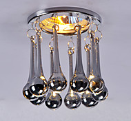 Recessed Crystal Ceiling Light pendant Lamp Fixture in Smoke Grey Color