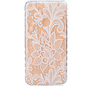 For Google Pixel XL Pixel TPU Material White Rose Pattern Wave Non-Slip Painting Phone Case