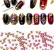 1440PC/Bag Colorful Nail Art Jewelry Glass Nail Rhinestones Decorations Crystal Glitter (Assorted 6 Sizes)