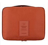 Makeup Storage Cosmetic Bag / Makeup Storage Nylon Solid 22.5*14.5*5 Orange