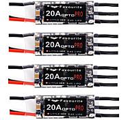 4PCS Little Bee Mini 20A 2-4S LiPo Battery OPTO PRO ESC Brushless For QAV170 180 210 250
