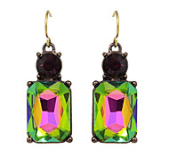 Square Shape Rhinestone Drop Earrings