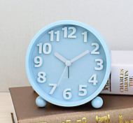 Alarm Clock with Matel Case In Blue Color Silent Movment Night Light