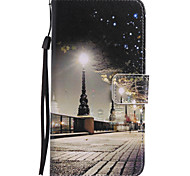 For Google Pixel XL Pixel PU Leather Material City Scenery Pattern Painting Phone Case