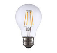 6W E26 LED Filament Bulbs A19 4 COB 700lm Warm White Dimmable 120V 1 pcs