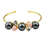 New Imitation Pearl Thin Cuff Bangles for Women