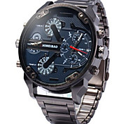 Hombre Reloj Deportivo / Reloj Militar / Reloj de Vestir / Reloj de Moda / Reloj de Pulsera Cuarzo Calendario / Dos Husos HorariosAcero