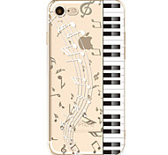 For Apple iPhone 7  6S Case Cover Piano Pattern Painted TPU Material Soft Package Phone Case