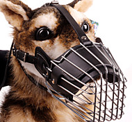 Dog Muzzle Safety / Training Solid Black / Brown / Multicolor Genuine Leather / Stainless Steel