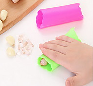 1 Garlic Peeler & Grater For Vegetable Plastic High Quality Eco-Friendly Creative Kitchen Gadget