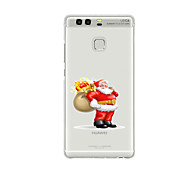 For Huawei P9 P9 Lite  P8 P8lite Pattern Case Back Cover Case Santa Claus Soft TPU for P9 Plus P9 Mini Max P7 Honor 6 Honor 6 Plus Honor 4C