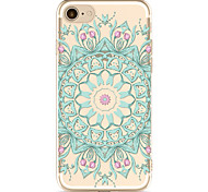 For Apple iPhone 7 7Plus 6S 6Plus Case Cover Blue Round Flower Pattern Painted TPU Material Soft Package Phone Case