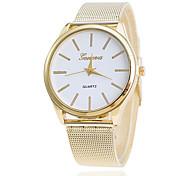 Herren Damen Paar Unisex Modeuhr Armbanduhr Quartz Legierung Band Vintage Bequem Gold Gold Weiß