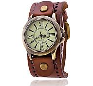 Vintage Cow Leather Bracelet Women WristWatch Casual Luxury Quartz Watch Relogio Feminino