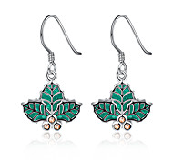 Christmas Tree Leaves Drop Earring