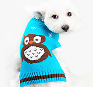 Dog Sweater Dog Clothes Keep Warm Animal Orange Blue