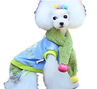 Dog Clothes/Jumpsuit Dog Clothes Cute Color Block Rainbow