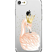 iPhone 7 7Plus Cartoon Flamingo Pattern TPU Ultra-thin Translucent Soft Back Cover for iPhone 6s 6 Plus 5s 5 5E