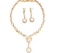 Joyas 1 Collar / 1 Par de Pendientes Perla / La imitación de diamante Fiesta / Diario / Casual 1 Set Mujer Oro Rosa Regalos de boda