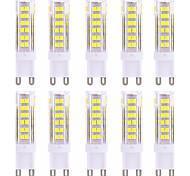 10pcs High Bright YWXLight® G9 9W 75 SMD 2835 600-800 LM Warm White / Cool White  LED Bi-pin Lights AC 220-240V