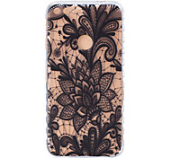 For Google Pixel XL Pixel TPU Material Black Rose Pattern Wave Non-Slip Painting Phone Case